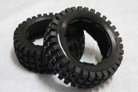 "HPI Baja 5B front rare knobby ""MT TIRE"" tire set"